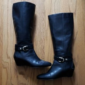 7M Black Leather Boot